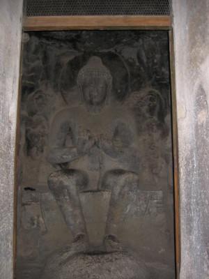 仏陀像(エローラ第5窟)