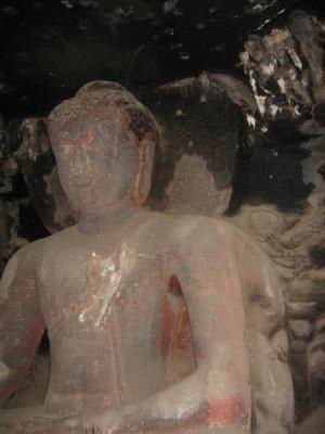 仏陀像(エローラ第12窟)2階仏殿