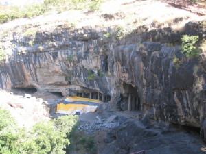 ピタルコーラー石窟全貌