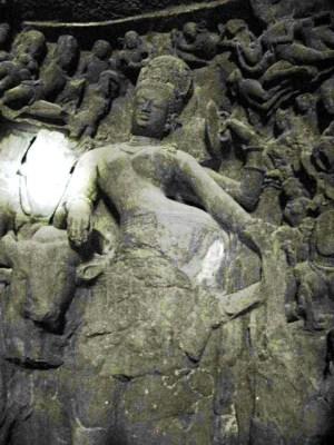 男女合体像の神