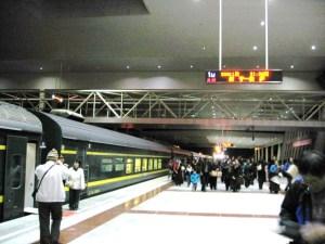 ラサ駅到着ホーム