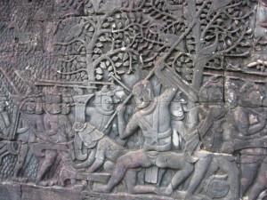 バイヨン チャンパ兵士との戦い