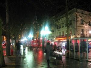 トゥールの街頭カフェ