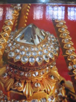 ヤンゴン シュエダゴン・パゴダの仏塔の宝石