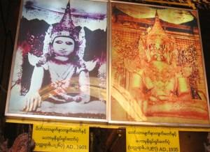 マンダレー マハムニ寺院の仏像変化