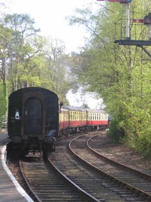 ウィンダミア湖 レークサイド駅蒸気機関車