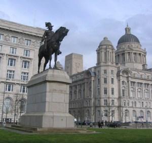 リヴァプール エドワード7世の騎馬像