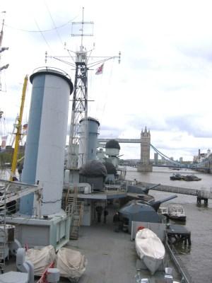 ベルファスト号 左舷装備