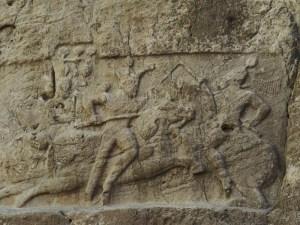 ササン朝ペルシャ 騎馬戦闘図