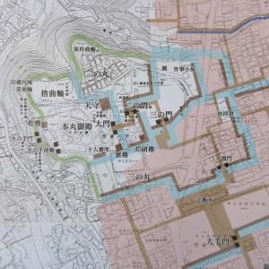 沼田城絵図に基づく城址