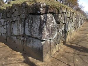 沼田城址 西櫓台の石垣