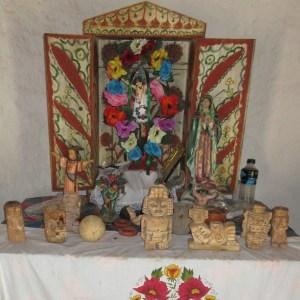 マヤ人の家の聖壇