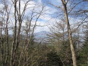 菅峰から浅間山展望