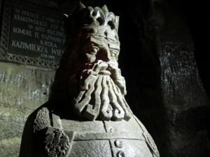 ヴィエリチカ岩塩坑のカジミェシュ3世彫像