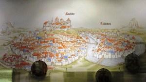 クラクフとカジミェシュの都市図