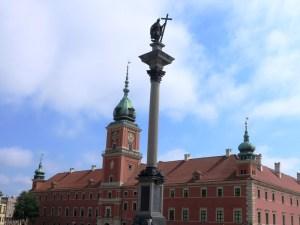 ワルシャワ ジグムント3世像と旧王宮広場