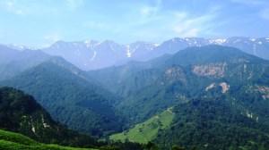 溝口峠飯豊連峰の眺望