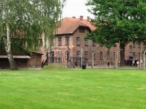 第一アウシュヴィッツ強制収容所入口
