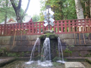 岩木山神社の御神水