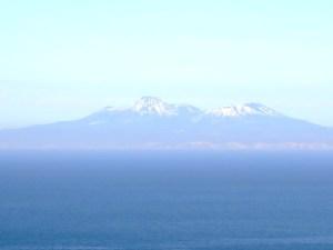 国後島 シマノボリ山(羅臼山?)