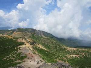 安達太良山山頂の展望