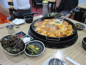 韓国 チュンチョン の夕食