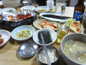 韓国 ピョンチャンの夕食