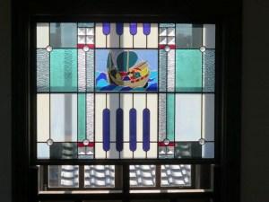近江八幡 渡海船のステンドグラス