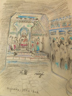 莫高第16窟 中心仏壇窟