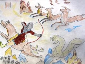 莫高第249窟 神々 風神と開明