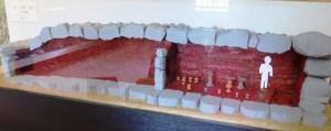 大室二子古墳 石室の模型